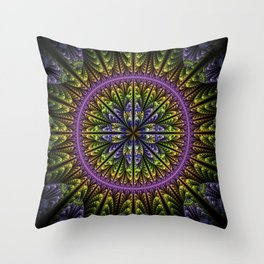 fantasy flower and petals II Throw Pillow