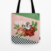 wasted rita Tote Bags featuring rita by Rosa Picnic