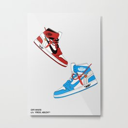 Off White Air x Jordan 1 Poster Metal Print
