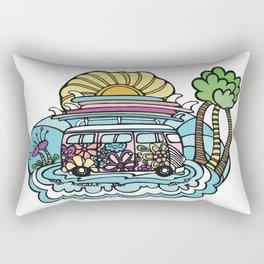 Hippie Chick Surf Bus Rectangular Pillow