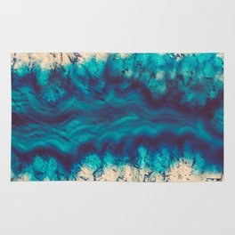 Blue Agate River of Earth Rug