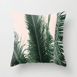 Maui Sunset Palm Leaves Tropicana Throw Pillow