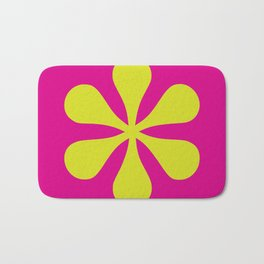 Pop-art Asterisk Bath Mat