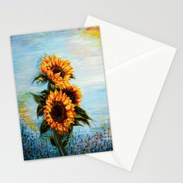 Sunflowers! Where Ocean meets Sky Stationery Cards