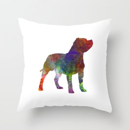 Staffordshire Bull Terrier in watercolor Throw Pillow