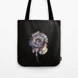 Beagle with a flower wreath - by Fanitsa Petrou Tote Bag