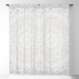Mandala Soft Gray Blackout Curtain
