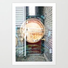 Portal Door - Double Exposure Art Print