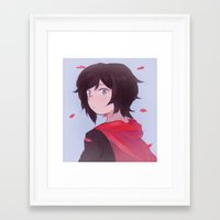rwby Framed Art Prints featuring [RWBY] Petals by bbsan
