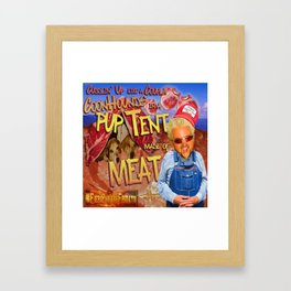 Guy Fieri and a Couple Coonhounds Framed Art Print
