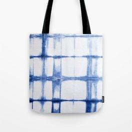 Shibori Blue - Rectangles Tote Bag