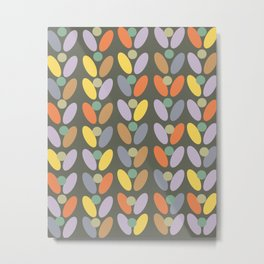 60's retro pattern Metal Print