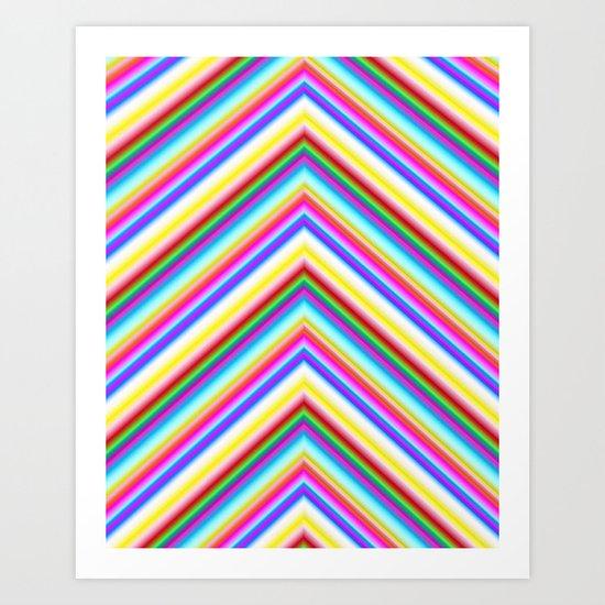 Chevron 8 Art Print