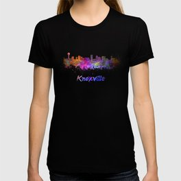 Knoxville skyline in watercolor T-shirt