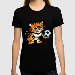 Soccer Tiger (color) square T-shirt