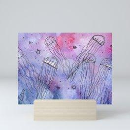 Whimsical Jellyfish Mini Art Print