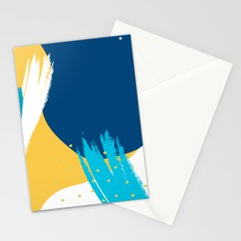 Bright colors modern abstract shapes design Stationery Cards