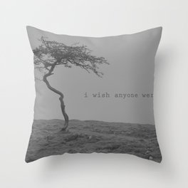 postcard from nowhere... Throw Pillow
