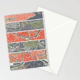 Six cities: NYC London Paris Berlin Rome Seville Stationery Cards
