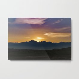 Dawn on the Missions Metal Print