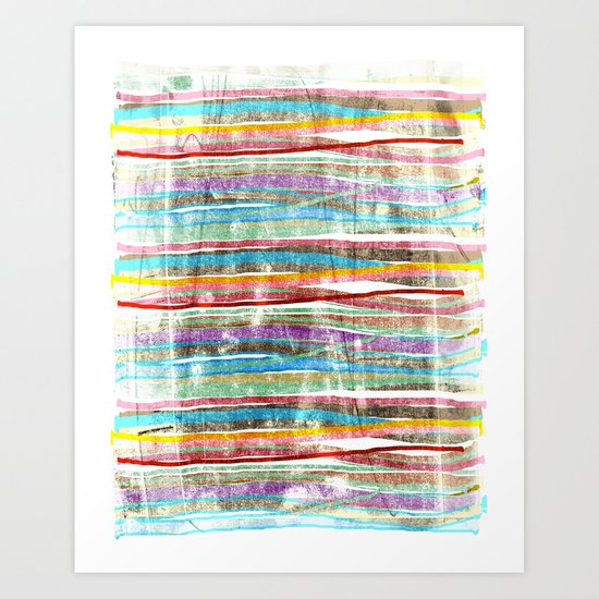 fancy stripes 3 Art Print