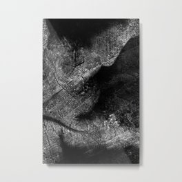 Alien Ultrasound Metal Print