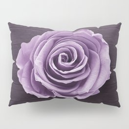 PURPLE - ROSE - ON - WOODEN - SURFACE Pillow Sham