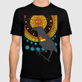 redwing blackbird and pentagon T-shirt