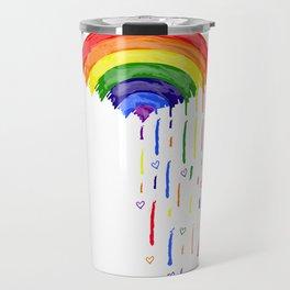 Love Rainbow Rain Travel Mug