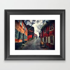 Paint it red Framed Art Print