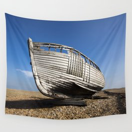 Beached Boat Wall Tapestry