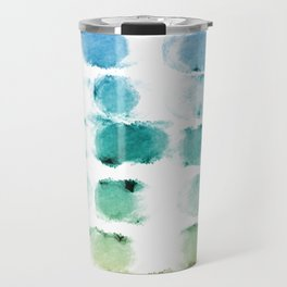 On the Beach Watercolor Painting Abstraction Travel Mug
