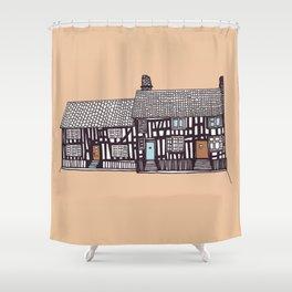 'Suffolk' House print Shower Curtain