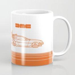 Back To The Future - Delorean - Stroke Coffee Mug