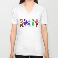 spice girls V-neck T-shirts featuring The Spice Girls by Greg21