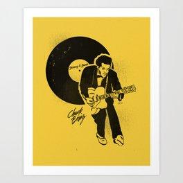 "Chuck Berry, ""Johnny B. Goode"" Illustration Art Print"