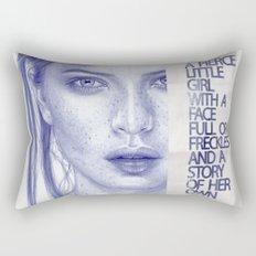 Fierce little girl Rectangular Pillow