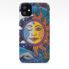Sun and Moon Art by Julie Oakes iPhone Case