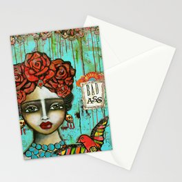 FRIDA PAINTING BAD ASS Stationery Cards
