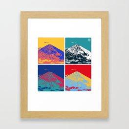 Mt. Fuji Pop Art Framed Art Print