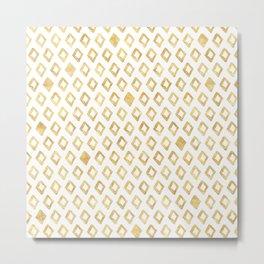 Gold Glitzy Geometric Metal Print