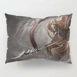 Scary Skeleton Hell Warrior King Lance Fantasy Ultra HD Pillow Sham
