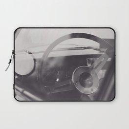 Super car details, british triumph spitfire, black & white, high quality fine art print, classic car Laptop Sleeve