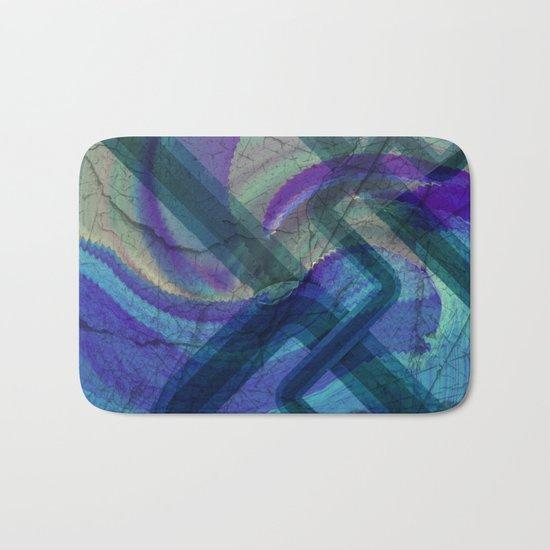 Industrial Landscape Abstract  Bath Mat