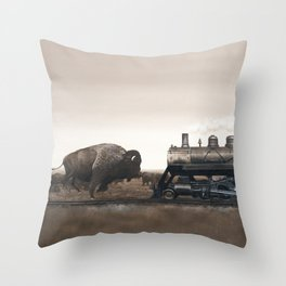 Plains Game II Throw Pillow