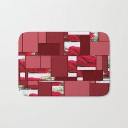 Red Rose Edges Art Rectangles 8 Bath Mat