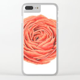 Rose. Big flower Clear iPhone Case