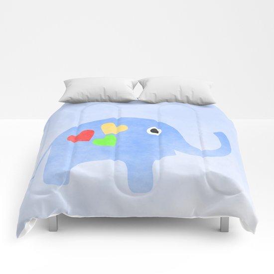 Blue Elephant Comforters