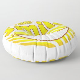 Smile time Floor Pillow