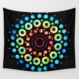 Multi-Color Mandala Tie-Dye Circle Shapes Wall Tapestry